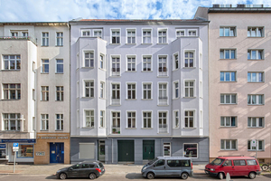 """Das fünfgeschossige Gebäude in Berlin-Schöneberg nach der Sanierung <span class=""""bildnachweis"""">Fotos: Gutex/Jens Schumann</span>"""