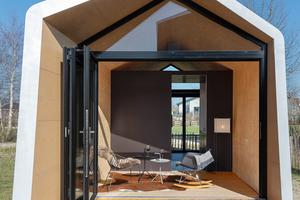 """Das Tiny House """"Snuk"""" ist Teil einer Ausstellung in der Nähe von Amsterdam"""