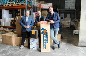 Von links nach rechts: Heiko Mohnberg, Geschäftsführer, Denis Dibold, Kreativ-Chef und Urs Nies, Leiter E-Commerce bei Dachdeckermarkt24
