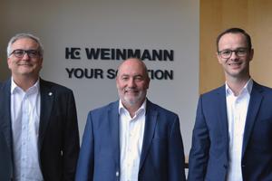 Die neue Geschäftsleitung der Weinmann Holzbausystemtechnik GmbH (v.l.n.r.): Josef Zerle, Hansbert Ott, Sven Schempp