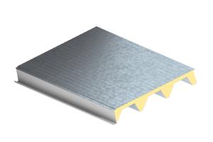 """Das Sandwichelement """"KS1000 X-Dek 108"""" eignet sich für Dachneigungen ab zwei Prozent und ist mit verschiedenen Oberflächen erhältlich"""