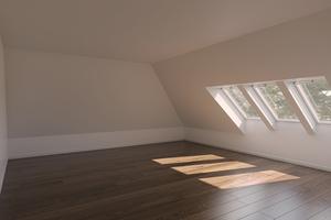 Raum mit Dachfenstern nach den Anforderungen der deutschen Landesbauordnungen<br />