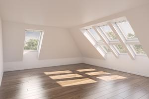 Raum mit Dachfenstern nach der europäischen Norm DIN EN 17037 (2019)<br />