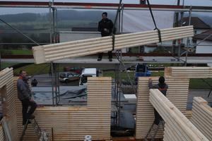 """Bau eines Wohnhauses mit den Massivholzprofilen des Systems """"Hexagon"""""""
