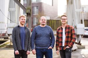 """Alexander Noll, Richard Keil und Julian Wiedenhaus (v.l.n.r.) haben gemeinsan die App """"Plancraft"""" für Handwerksbetriebe entwickelt<p></p>"""