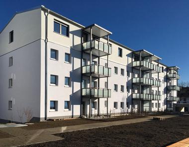Sieben Mehrfamilienhäuser in Unterschleißheim wurden aufgestockt, um neuen Wohnraum zu schaffen