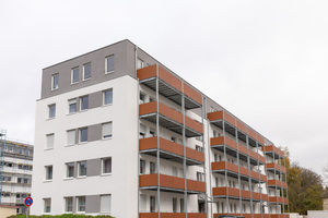 """Insgesamt 2155 m² neue Wohnfläche entstehen durch Aufstockung auf dem ehemaligen Kasernengelände<span class=""""bildnachweis"""">Fotos: Gutex, Martin Granacher </span>"""