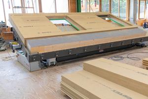 Vorfertigung der Gebäudeteile beim Unternehmen Brüninghoff in Villingen-Schwenningen