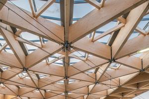 Das Dreiecksdach des Bahnhofs im niederländischen Assen stellt Lukas Osterloff vom Ingenieurbüro Miebach auf dem IHF in Innsbruck 2020 vor