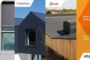 Etex Germany Exteriors GmbH und ihre 3 Marken Equitone, Cedral und Eternit<br />