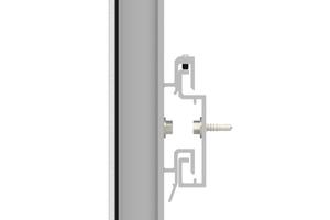"""Das nicht sichtbare Verkleben der Fassadenplatten erlaubt einen flachen Systemaufbau<span class=""""bildnachweis"""">Grafiken: Alucobond</span>"""