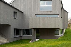 """Außenansicht des """"Haus Mühlhäuser"""" von Christine Reck Architekten in Biberach an der Riß"""