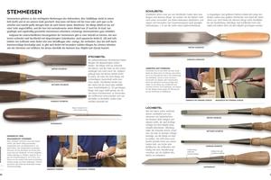 """Das """"Praxisbuch Holz"""" gibt einen Überblick über Werkzeuge zur Holzbearbeitung, von klassischen Handwerkszeugen über stationäre Maschinen bis hin zu Akku-Werkzeugen"""