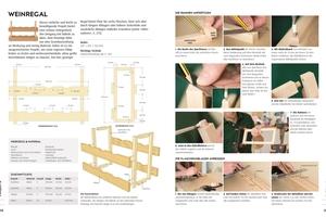 """Auf knapp 200 Seiten zeigt das """"Praxisbuch Holz"""" Projekte zum Nachbauen, vom Küchentisch bis zum Geschirrschrank"""