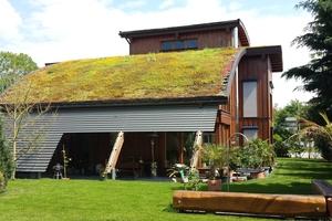 Auch für gewölbte Dachformen und Tonnendächer gibt es passende Gründachsysteme