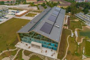 Die Alnatura Arbeitswelt in Darmstadt, der Unternehmenssitz des Bio-Großhändlers, wurde 2019 fertiggestellt<br />
