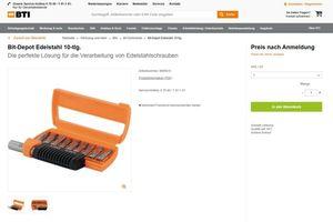 Click &amp; Collect Schritt für Schritt erklärt: Die Kunden wählen ein Produkt im BTI-Online-Shop aus…<br />
