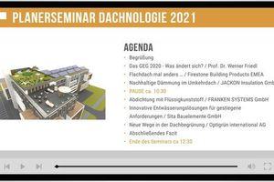 Das Dachnologie-Seminar findet dieses Jahr als reine Onlineveranstaltung statt<br />