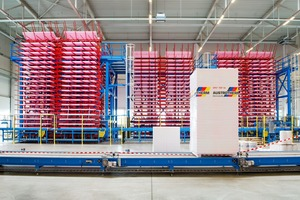 Blick in das Werk der Austrotherm Dämmstoffe GmbH im brandenburgischen Wittenberge. Der Hersteller von XPS-Dämmstoffen verzeichnet derzeit eine sehr hohen Nachfrage und steigende Preise für Rohstoffe und Vorprodukte<br />