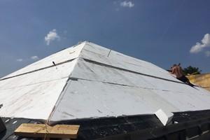 Die Steildächer wurden dann mit druckfesten EPS-Dämmplatten gedämmt <br />
