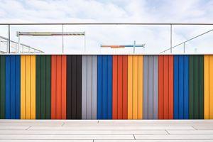 Verlegt wurden die Holzverbunddielen auf der Terrassenfläche und an den Wänden