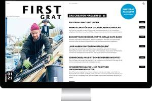 """Das Magazin """"FirstGrat"""" ist in einer gedruckten Version und als Online-Ausgabe verfügbar. Online finden Leser zusätzliche Bilder und Audioclips"""