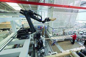 """Die erste """"smartPrefab""""-Anlage von Weinmann wurde beim Fertighaushersteller Weberhaus installiert<br />"""