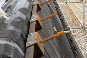 Ansicht der Stahlunterkonstruktion auf der Dampfsperrebene