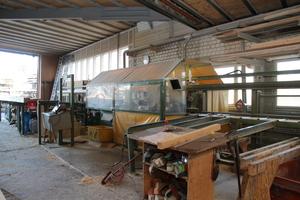 """Die alte """"K1""""-Abbundmaschine nutzte der Holzbaubetrieb insgesamt 23 Jahre"""