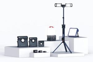 """Der dänische Hersteller Scangrip bringt sechs Akku-Arbeitsleuchten in das """"Cordless Alliance System (CAS)"""" ein. Die neuen Leuchten eignen sich für verschiedene Anwendungen im Innen- und Außenbereich<br />"""