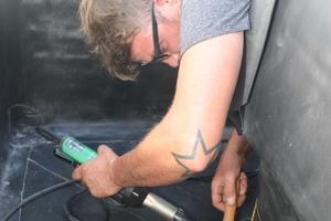 Die enge Baustellensituation erforderte Fingerspitzengefühl bei den Schweißarbeiten