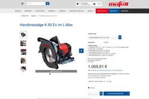 Die Mafell AG bietet seit Mai 2020 ihre Maschinen über einen eigenen Online-Shop zum Verkauf an
