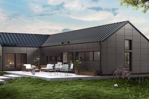 """Für das """"Lindab Solar Roof"""" werden die Stehfalzbleche des Metalldachsystems werkseitig mit dünnen Solarzellen ausgestattet"""