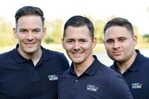 Das Team hinter Check and Work (von links nach rechts): Marcel Jäger, Martin Holl und Markus Holl