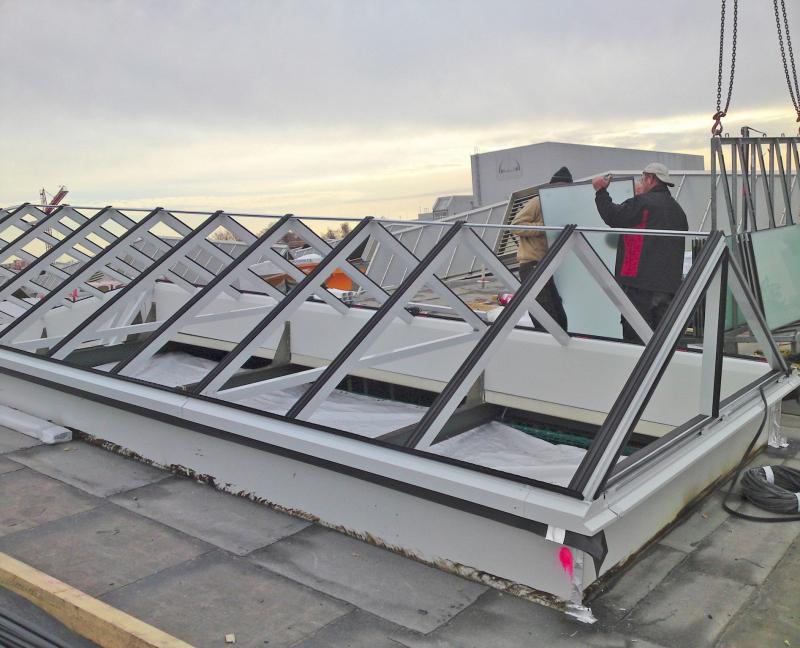 Natürliches Licht, gute Arbeitsbedingungen - Bauhandwerk