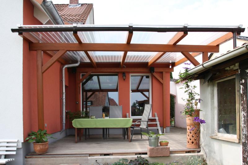 Berühmt Terrassenüberdachung mit Stegplatten - Bauhandwerk YZ95