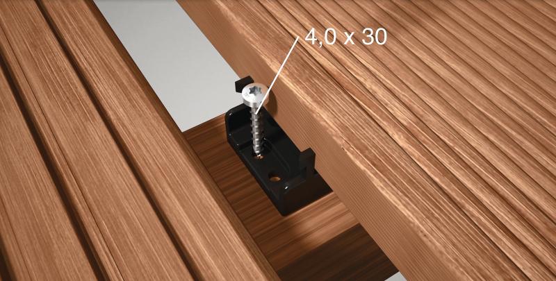 terrassendielen unsichtbar verschrauben bauhandwerk. Black Bedroom Furniture Sets. Home Design Ideas