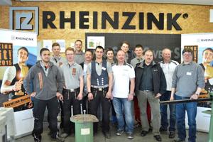 """Gruppenfoto mit allen Teilnehmern der """"Rheinzink-Masters"""""""
