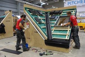 Das schweizerische Team belegte im internationalen Wettbewerb der Dachdecker in der Kategorie Steildach den dritten Platz