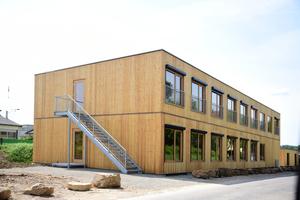 Das Konzepthaus in Uhingen, in der Nähe von Stuttgart, bietet Wohnraum für rund 60 Flüchtlinge