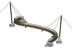 Isometrische Computergrafik der Brücke