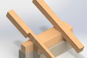 """Heco bietet zur Absicherung gegen Windsoglasten aufeinander abgestimmte Produkte für die Holz-Holz und Holz-Beton-Verbindung<span class=""""bildnachweis"""">Foto: Heco </span>"""