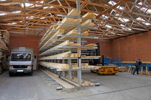 Das Holzlager der Fuhrberger Zimmerei in Burgwedel nach der Umgestaltung des <br />Materiallagers