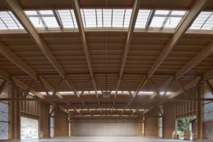 """Das Dach der Lagerhalle von Holz Marberger sollte nicht nur stabil sein, sondern auch gut aussehen<span class=""""bildnachweis"""">Foto: Holzbau Saurer/Müller</span>"""