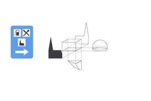 """Explosionszeichnung der Entwurfsidee: Einfache geometrische Formen werden zu einer außergewöhnlichen Struktur zusammengeführt<span class=""""bildnachweis"""">Quelle: schneider+schumacher</span>"""