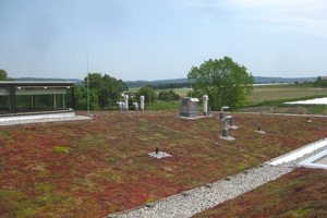 """Im Anschluss an die Abdichtungs-arbeiten wurde das Dach mit Vegetationsmatten begrünt<span class=""""bildnachweis"""">Fotos (2): Heid Architekten</span>"""