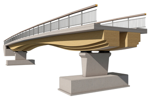 So wird es aussehen: Direkt vor der Haustür des Ingenieurbüros Miebach wird die Höngesbergbrücke am Aggerschlösschen gebaut<br />