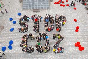 Die Stop-CO<sub>2</sub>-Aktion im Rahmen der Bayerischen Klimawoche 2013 in Pfaffenofen/Ilm ist Vorbild für die große Aktion in Köln Foto: Stadt Pfaffenhofen / Paul Ehrenreich