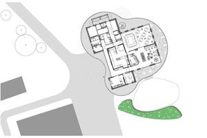 """Grundriss des """"Clubhauses No10"""", ohne MaßstabQuelle: CBAG Architekten"""