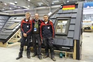 Der stolze Mentor Jörg Schmitz und sein Siegerteam: Tom Gladisch (links) aus Schleswig-Holstein und Volker Pohlmeyer (rechts) aus NRW